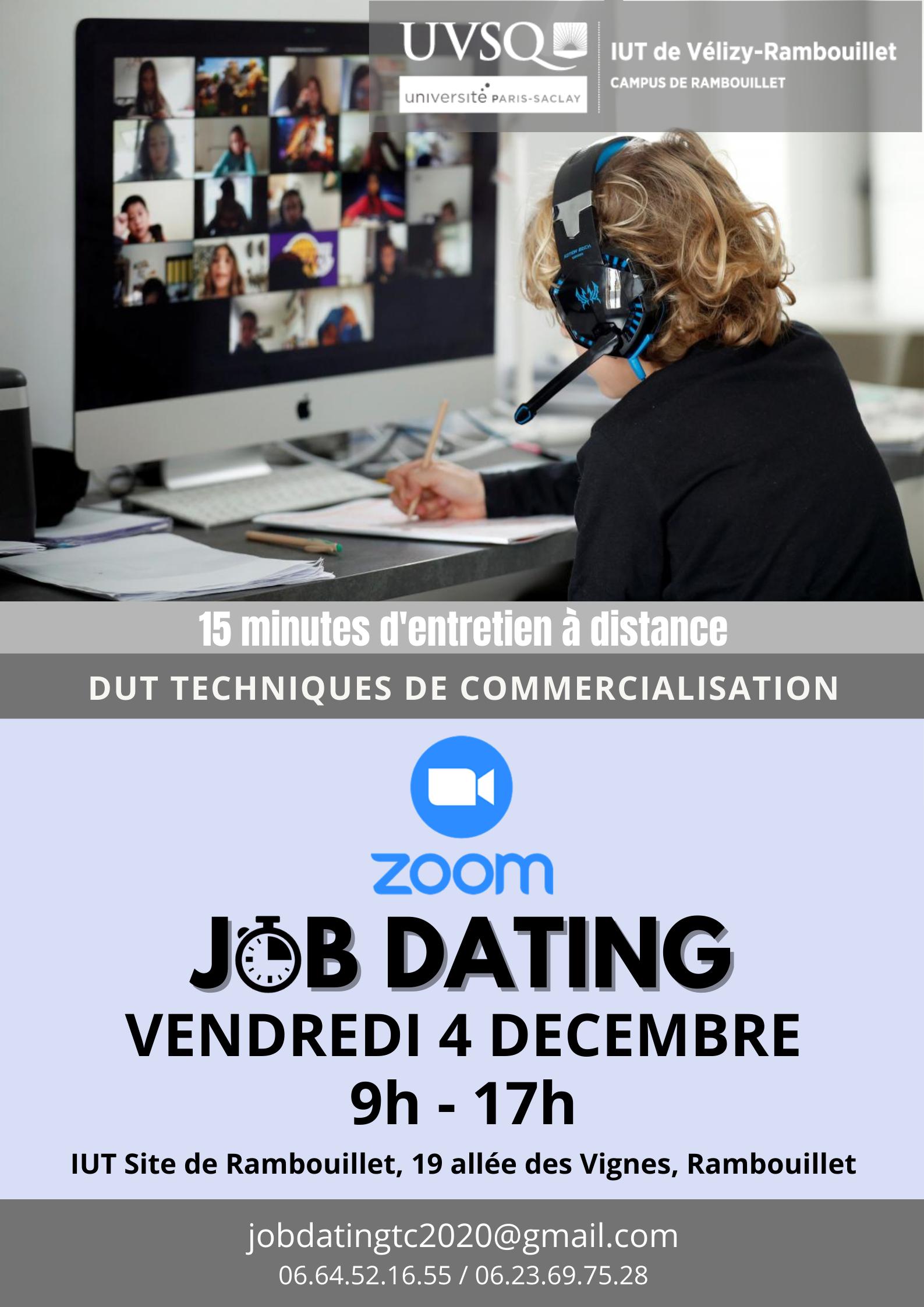 Affiche du job dating 2020